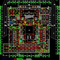 湖北某大学图书馆电气设计施工图(全面详细)