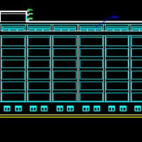 8000平米8层框架结构综合办公楼毕业设计(建筑及结构图 计算书 施组)