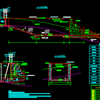 2×2000KW电站压力前池及压力管道布置图