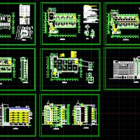 4978平米医院综合楼建筑设计CAD图纸