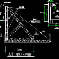 8米高钢结构广告牌CAD设计图