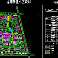 龙翔居住小区规划设计CAD图