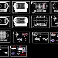小学田径运动场CAD设计图(跑道 篮球场 足球场 沙坑 跳远)