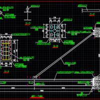 钢结构雨棚建筑及结构设计施工图(含设计说明,悬挑7米)