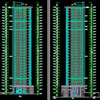 河北邯郸31层住宅楼建结水电暖全套施工图