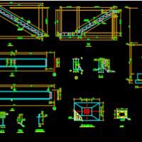 两跑钢结构楼梯施工详图