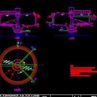 某污水处理厂污泥浓缩池平面及剖面CAD图纸