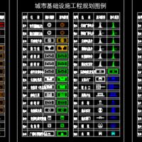 城市规划图例及图块CAD图