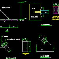 悬挑钢结构玻璃雨棚结构设计图(跨度6m)