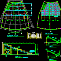 电影院看台钢结构设计CAD施工图