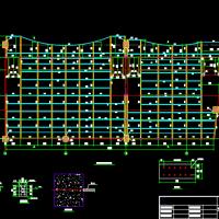 钢结构电影院看台详细设计施工图纸