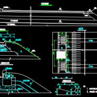 道路工程土路肩拦水带CAD图纸