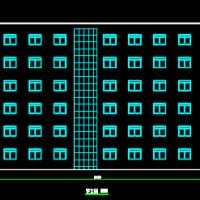 4899平米六层框架结构教学楼毕业设计图(只含建筑图)