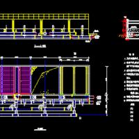 污水处理厂普通快滤池CAD设计图