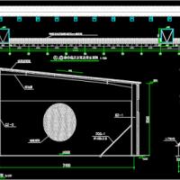 粮油贸易公司钢结构2.5吨平房储粮仓建筑及结构图