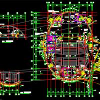 某大学2606平米学术报告厅建筑设计施工图