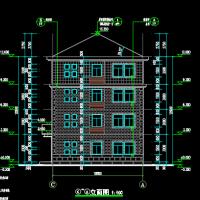 487平米四层坡屋顶别墅设计施工图纸