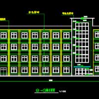 4371平米4层框架结构中学教学楼毕业设计(含计算书,建筑、结构图 PKPM模型)