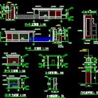无锡上通轴承公司大门建筑施工图