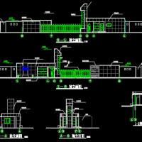 某地厂区大门门房建筑设计图