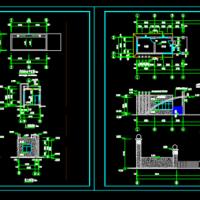 山东某钢构公司大门建筑设计图