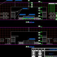 山西某公司厚重感大门建筑及结构全套图