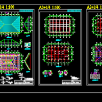 屋面新增钢结构四坡屋面结构改造设计施工图(含设计说明)