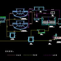 某电厂中水回用流程工艺图