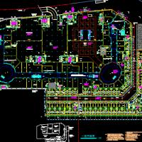 厦门湖里万达广场建筑平面图(步行街 商场 影厅)