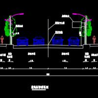 安徽某城市道路交通标志标线施工图设计