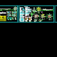 商务大厦两套门卫建筑及电气设计图纸(带说明)