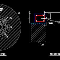 雨水井防坠网CAD大样图