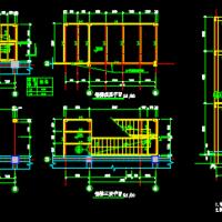 沿原结构边加建三层钢结构楼梯设计图