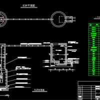 供水机井平面图及机井、水塔剖面图
