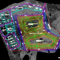 工业园区危废填埋场平面布置图