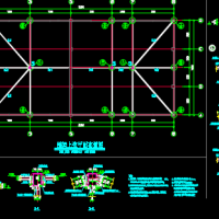 钢结构四坡桁架屋面结构设计施工图