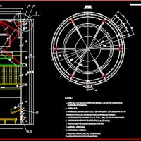 药业公司合成分厂废水处理站UFB反应器装配图
