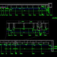 铝扣板吊顶剖面图(集成吊顶)