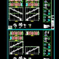 滑动支座钢结构楼梯CAD图纸