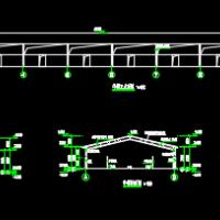 农业扶贫工程钢结构扶贫牛棚牛舍设计图纸