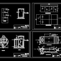 某乡镇净水厂设计CAD图