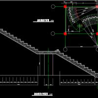 某建筑旋转楼展开剖面图