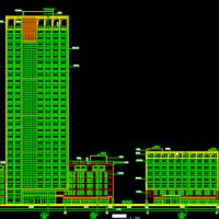 57655平米二十九层办公楼建筑设计图纸