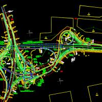 公路平面总体设计图(高速公路立交)