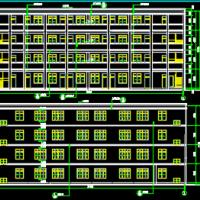 广西1108平米农村小学四层教学楼建筑设计施工图