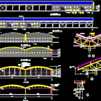 6760平米30m跨钢管空间拱形大棚建筑及结构全套施工图