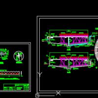 辐流式沉淀池工艺设计图(直径25m)