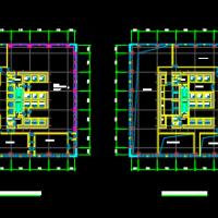 超高层办公楼塔楼各层平面图