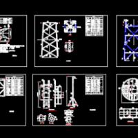 某25m通信铁塔结构设计图纸