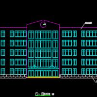 7567平米框架结构五层教学楼建筑结构图纸